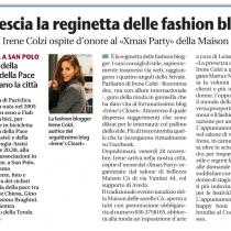 Giornale di Brescia Irene colzi