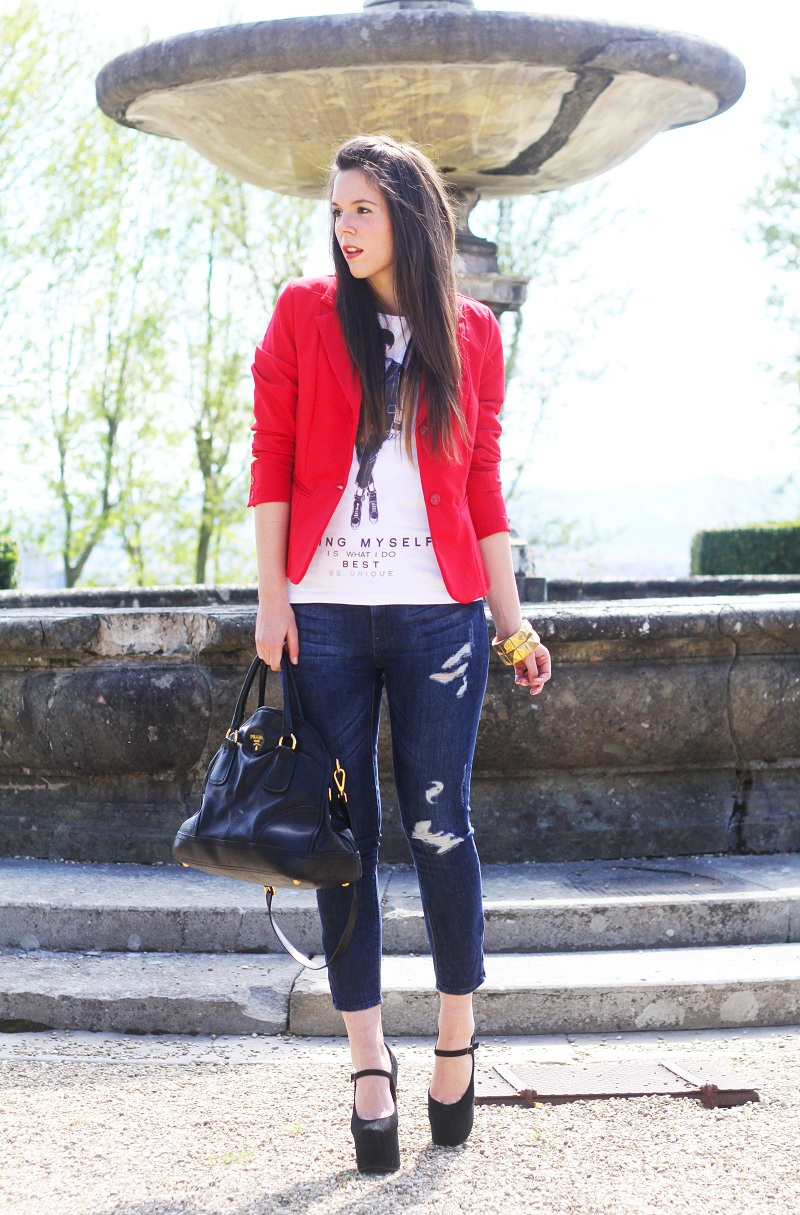 Favorito Outfit del giorno / Outfit of the day: Jeffrey Campbell e rosso  VK53