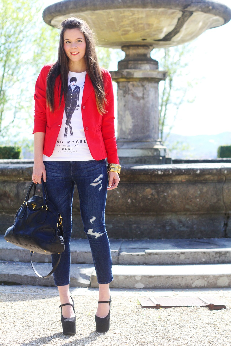 Amato Outfit del giorno / Outfit of the day: Jeffrey Campbell e rosso  CN32