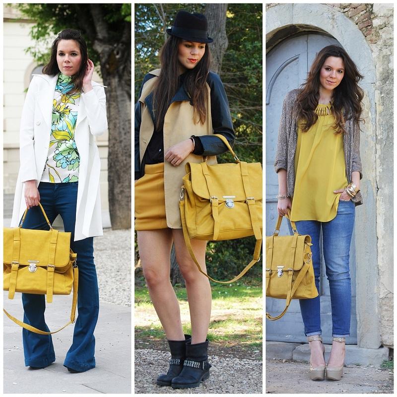 come abbinare una borsa gialla
