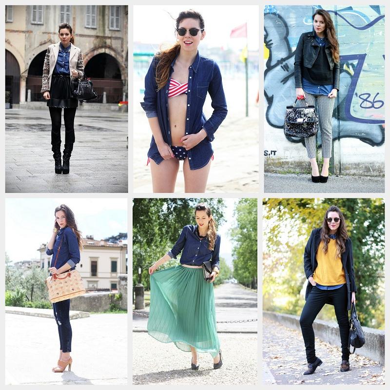 the latest 15072 9995d Come abbinare la camicia di jeans? 6 outfits, 1 sola camicia ...