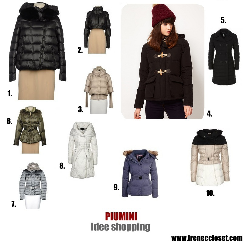 save off 59aca c5860 Piumini: idee per lo shopping | Irene's Closet - Fashion ...