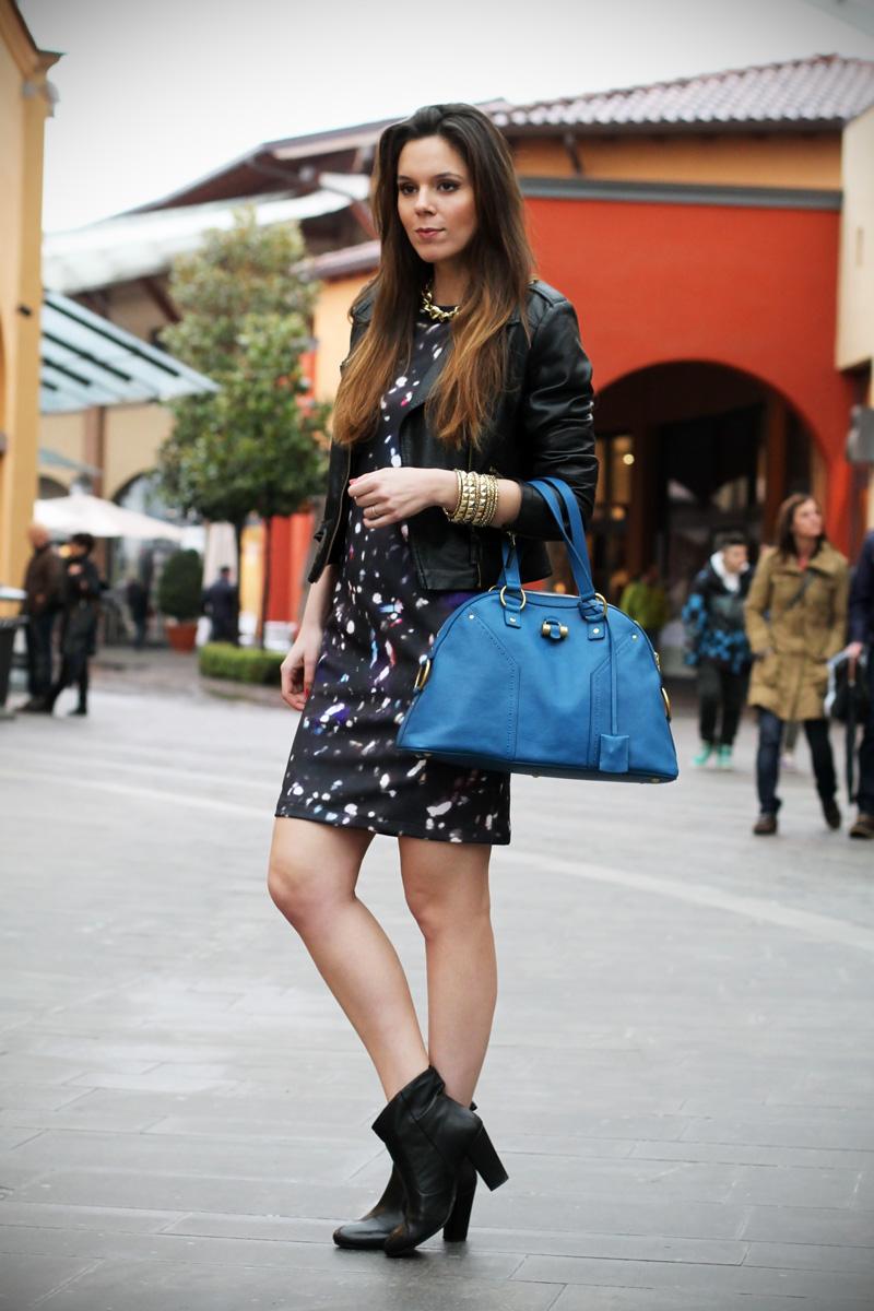borsa YSL yves saint lautent Muse celeste vestito fantasia universo fashion blogger italia irene colzi irene closet