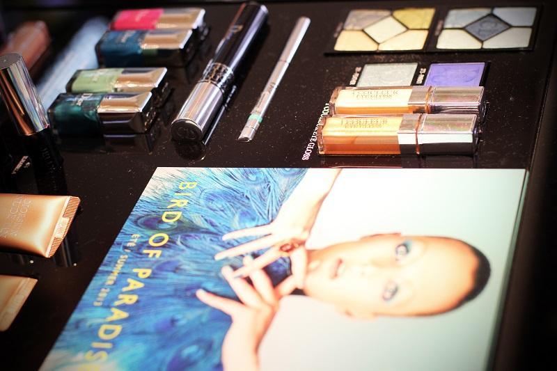 trucco dior | dior estate 2013 | make up | Dior | bird  of paradise dior | uccello del paradiso dior | trucco celeste | trucco blu | idee trucco | rinascente | milano 2
