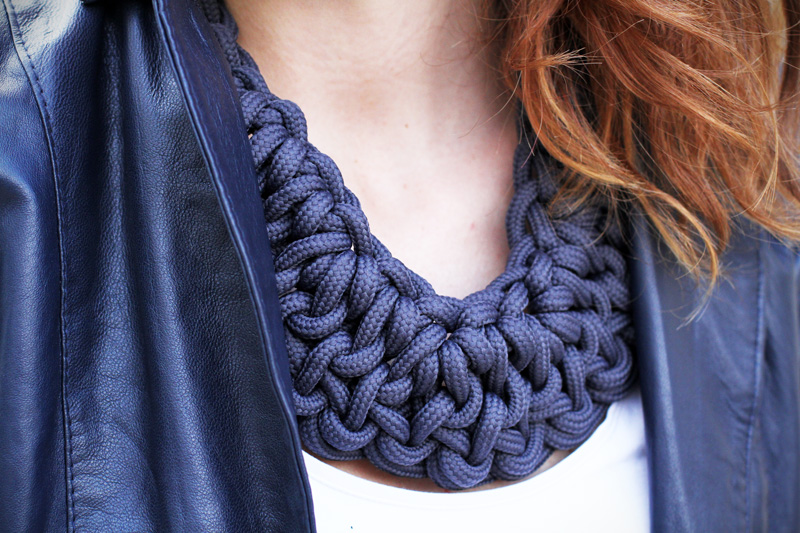 collana corda | marinaretto | blu navy | blu | collana nodi