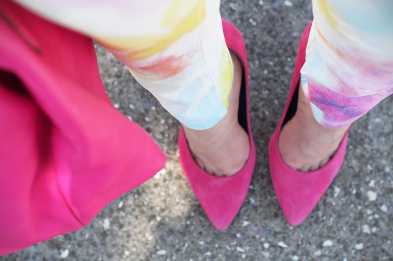 decollete rosa | scarpe rosa | decollete fucsia | scarpe fucsia | jeans pastello | jeans colorati