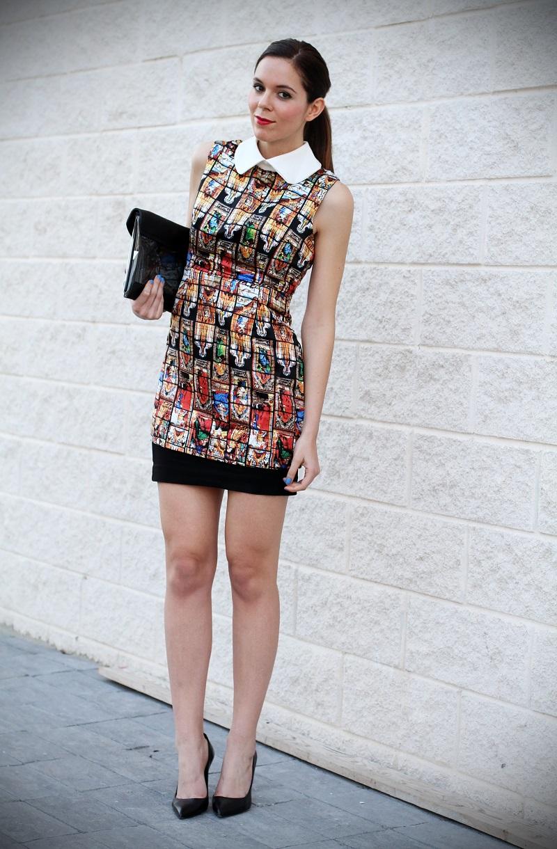 vestito | vestitino | colletto bianco | vestito corto | vestitino | streetstyle | outfit | look | pochette | rossetto rosso | decollete nere | fashion blogger italia | fashion blogger | irene colzi
