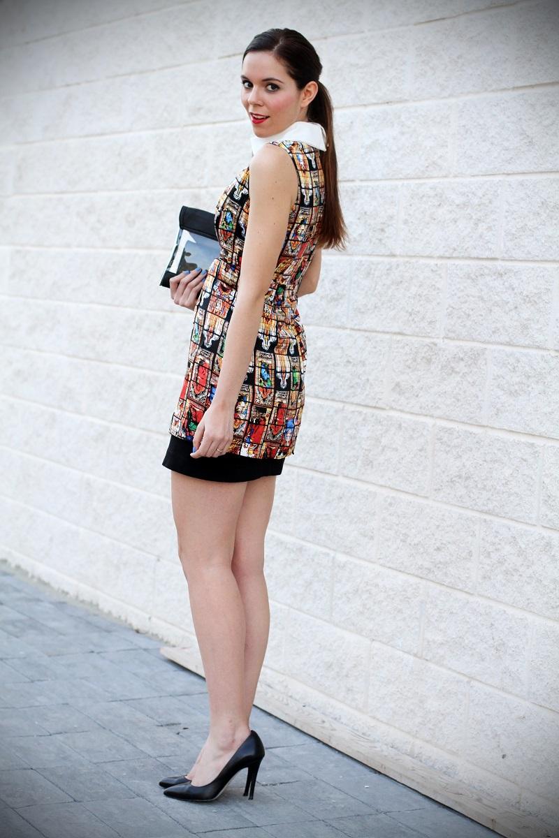 vestito | vestitino | colletto bianco | vestito corto | vestitino | streetstyle | outfit | look | pochette | rossetto rosso | decollete nere | fashion blogger italia | fashion blogger | irene colzi 1