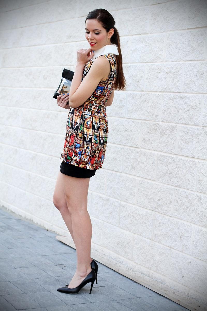 vestito | vestitino | colletto bianco | vestito corto | vestitino | streetstyle | outfit | look | pochette | rossetto rosso | decollete nere | fashion blogger italia | fashion blogger | irene colzi 3