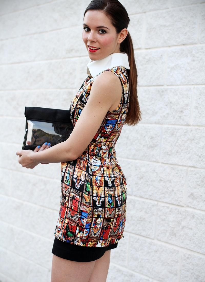 vestito | vestitino | colletto bianco | vestito corto | vestitino | streetstyle | outfit | look | pochette | rossetto rosso | decollete nere | fashion blogger italia | fashion blogger | irene colzi 7
