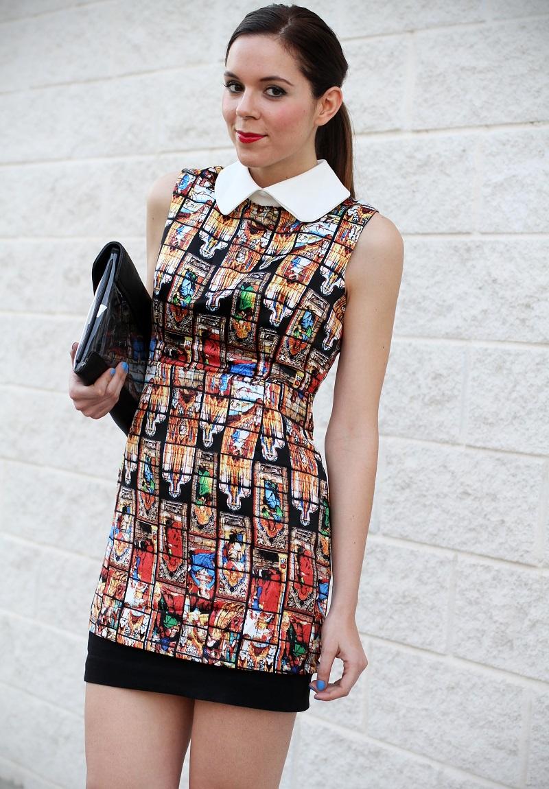 vestito | vestitino | colletto bianco | vestito corto | vestitino | streetstyle | outfit | look | pochette | rossetto rosso | decollete nere | fashion blogger italia | fashion blogger | irene colzi 5