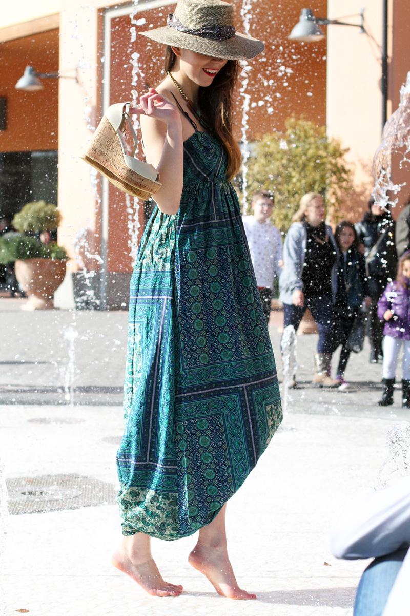 come vestirsi al mare| cappello paglia| scarpe zeppa sughero| scarpe zeppa corda| prendisole| vestito estate | valdichiana outlet | fashion report | irene colzi | irene closet | fashion blogger italia