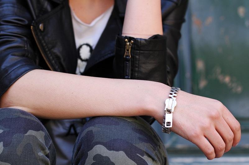 fashion | moda | fashion details | braccialetto cerniera | bracciale cerniera | bracciale particolare