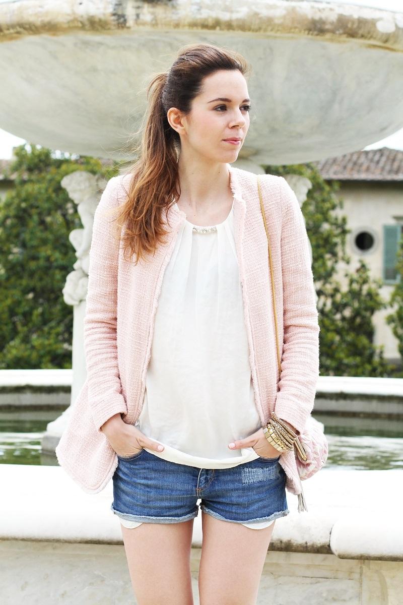 villa medicea | villa castello | irene colzi | irene closet | fashion blog | rosa pastello | rosa baby | spolverino rosa | cappotto rosa | swarovski | fix design | borsa fixdesign 1