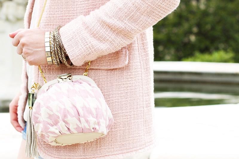 fashion | moda | borsa fix design | fashion details | rosa pastello | rosa baby | spolverino rosa | bracciali oro