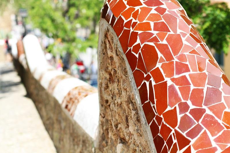 parc guell | dettagli parc guell | mosaici | gaudi | barcellona | patrimonio unesco | spagna | vacanze barcellona | cosa vedere a barcellona 1