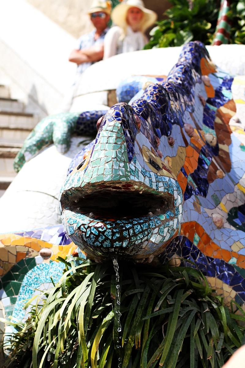parc guell | salamandra parc guell | mosaici | gaudi | barcellona | patrimonio unesco | spagna | vacanze barcellona | cosa vedere a barcellona