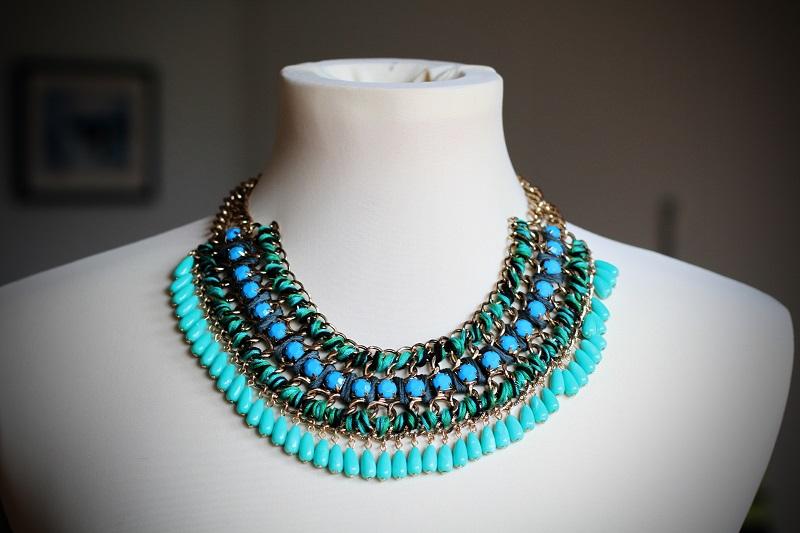 collana zara | collana celeste | collana blu | shoppin | shopping lowcost | zara