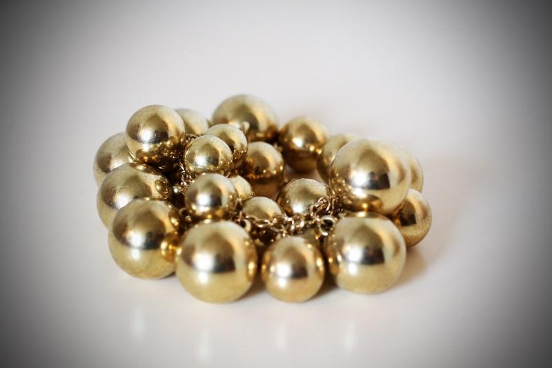 bracciale sfere | bracciale oro | shopping lowcost | blanco