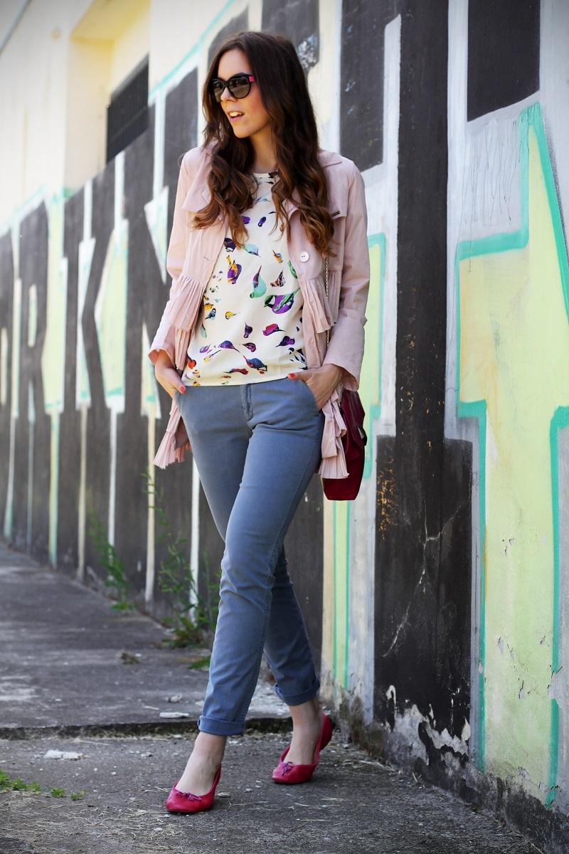 trench rosa | occhiali da sole | occhiali da sole sting | outfit | look | ballerine rosa | borsa bulgari | borsa bvlgari | fashion blog | fashion blogger | fashion blogger italia 2