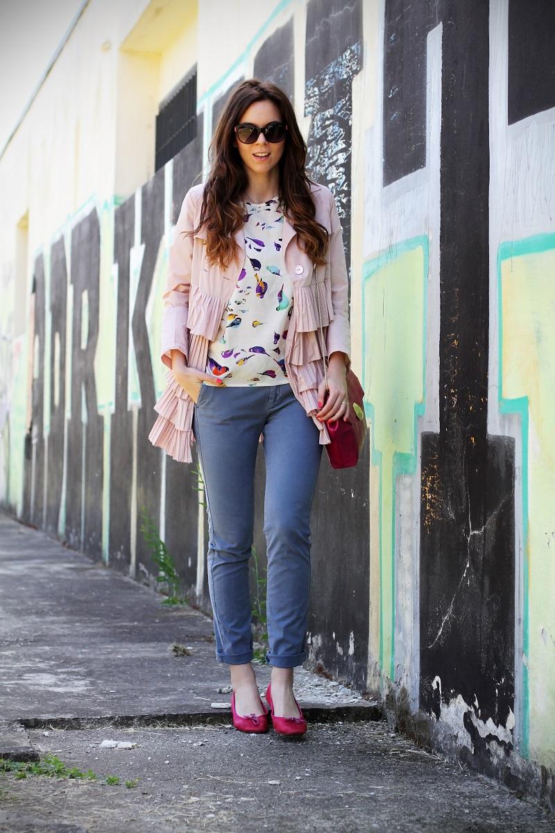 trench rosa | occhiali da sole | occhiali da sole sting | outfit | look | ballerine rosa | borsa bulgari | borsa bvlgari | fashion blog | fashion blogger | fashion blogger italia