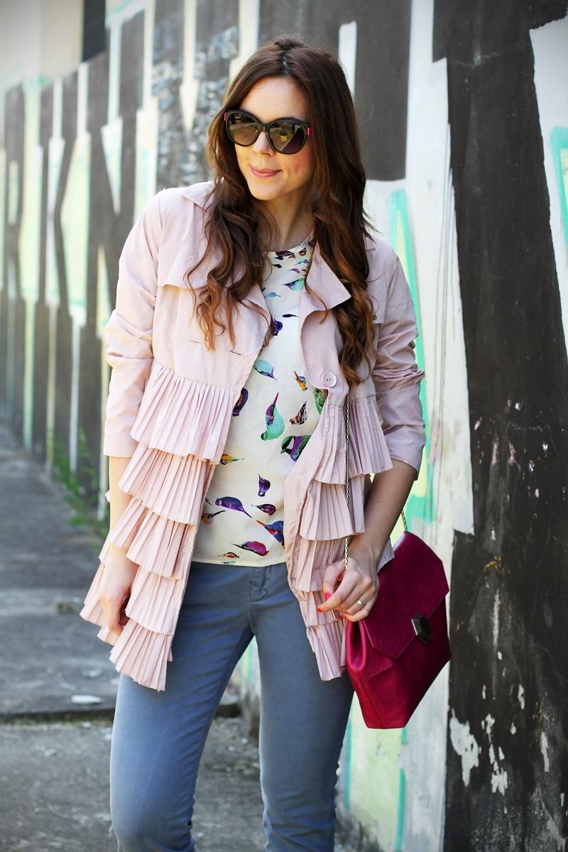 trench rosa | occhiali da sole | occhiali da sole sting | outfit | look | borsa bulgari | borsa bvlgari | fashion blog | fashion blogger | fashion blogger italia 2