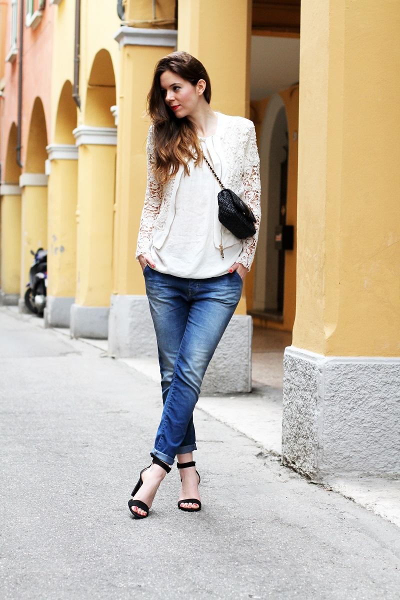 fashion look on the road il mio look romantico streetstyle. Black Bedroom Furniture Sets. Home Design Ideas