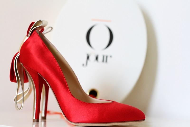 Giorgia Caovilla | o jour | rene caovilla | scarpe lusso | decollete lusso | decollete raso | tacchi raso | decollete rosse | scarpe rosse  4