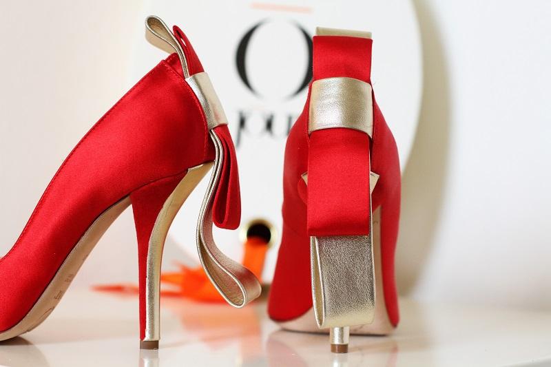 Giorgia Caovilla | o jour | rene caovilla | scarpe lusso | decollete lusso | decollete raso | tacchi raso | decollete rosse | scarpe rosse  3