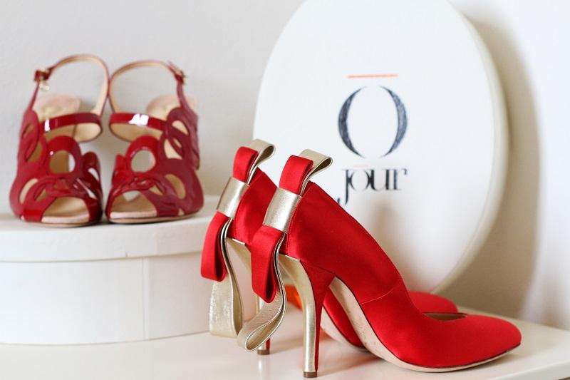 Giorgia Caovilla | o jour | rene caovilla | scarpe lusso | decollete lusso | decollete raso | tacchi raso | decollete rosse | scarpe rosse  1
