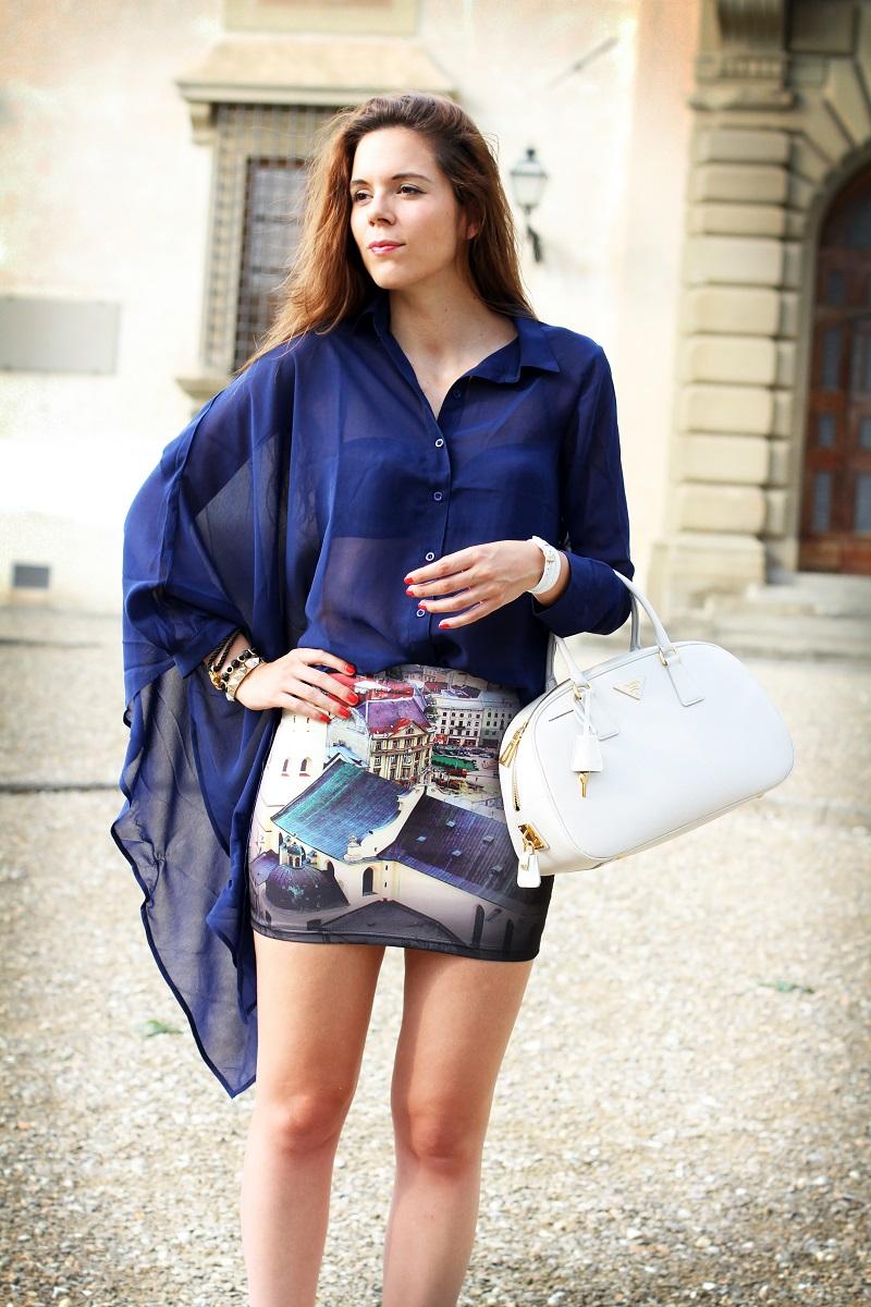 look casual   moda   fashion blogger   outfit   look   irene colzi   gonna stampa   jeffrey campbell   bracciale il mezzometro