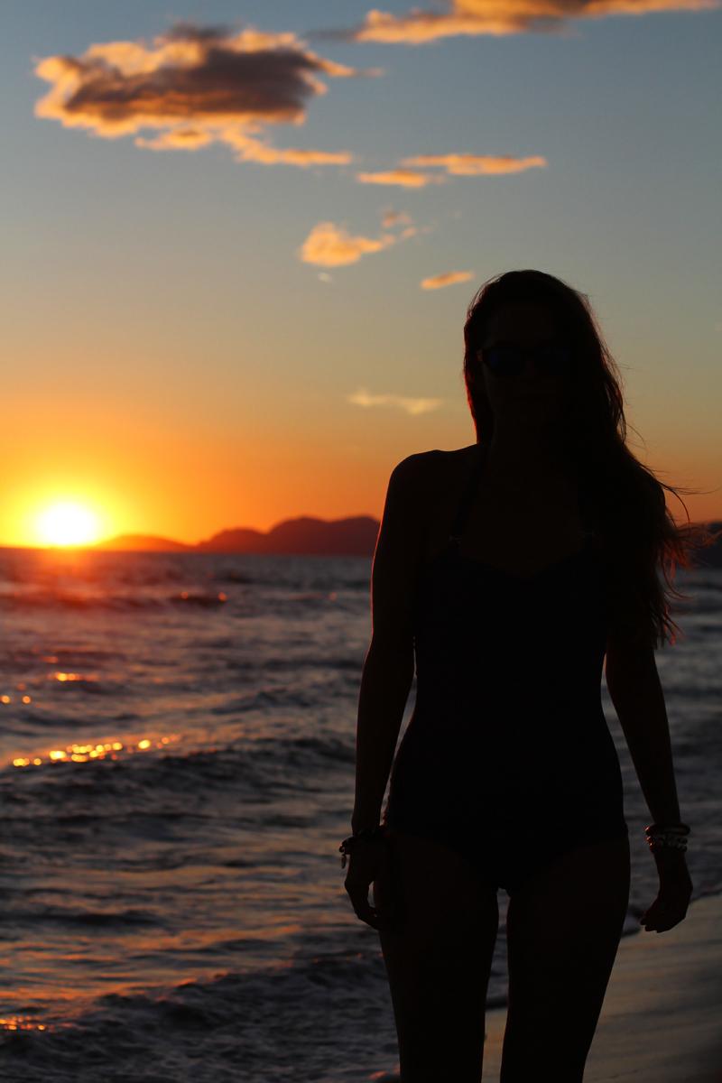 tramonto silhuette nera