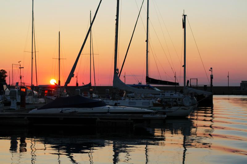 tramonto porto