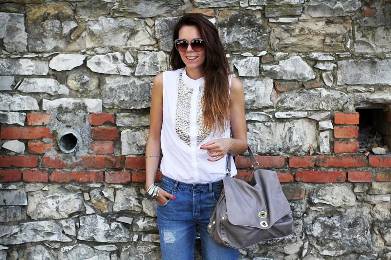 postina zanellato | jeans boyfriend | asos | stefanel | camicia borchie | camicia sbracciata | occhiali gucci | shatush