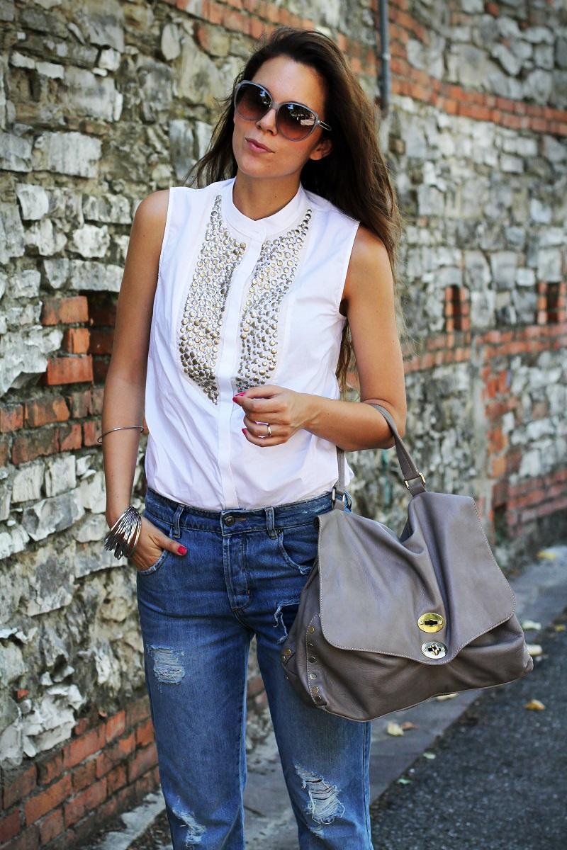 postina zanellato | jeans boyfriend | asos | stefanel | camicia borchie | camicia sbracciata | occhiali gucci | shatush 1