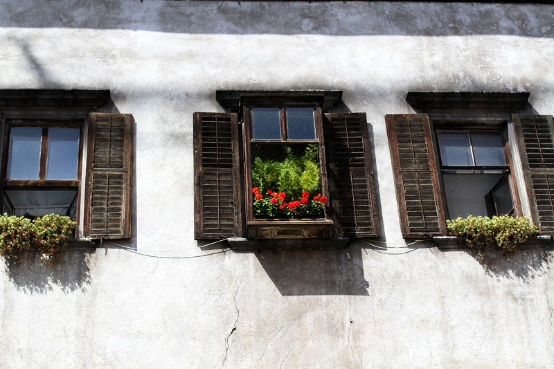 finestre |  fiori | casa|  montagna | legno
