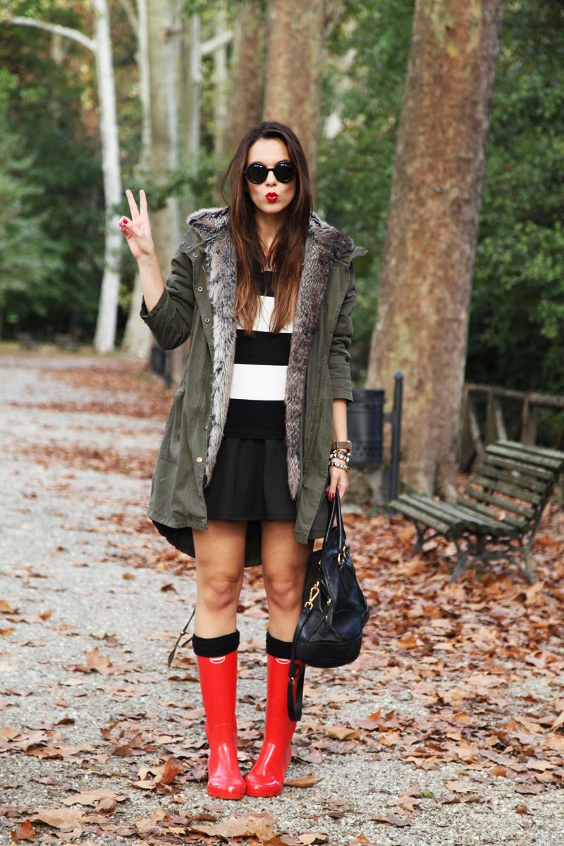 rain boots look