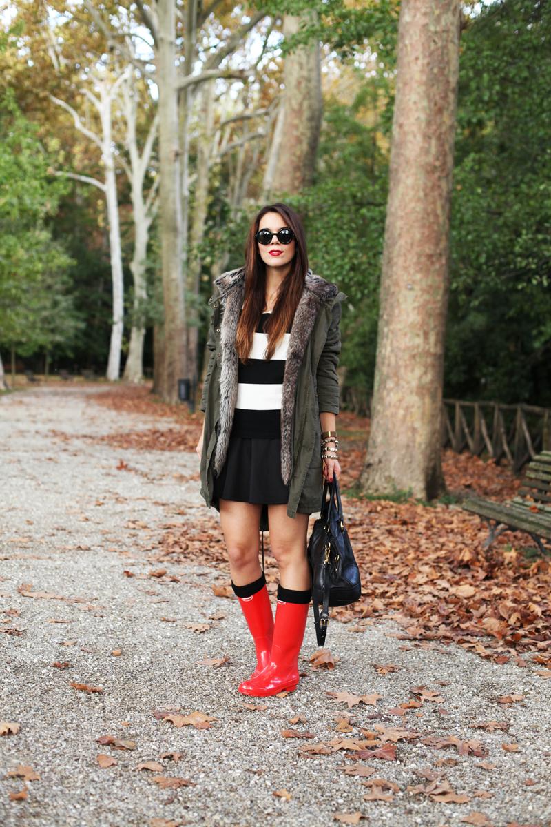 stivali da pioggia outfit