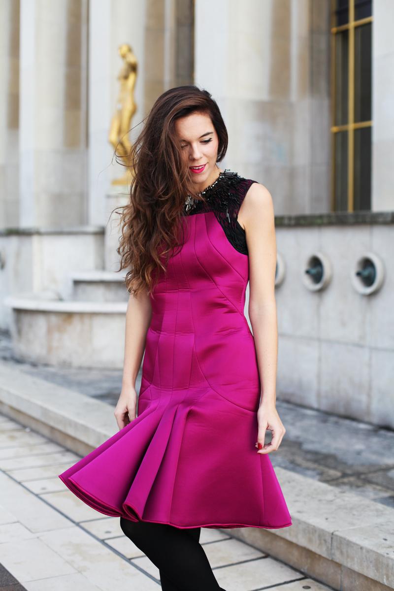 vestito fucsia