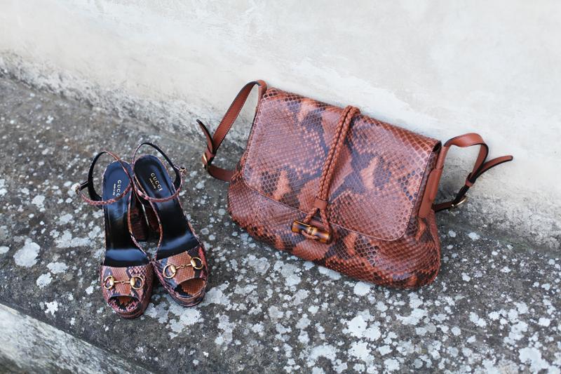 scarpe borsa gucci pitone autunno inverno 2013 2014