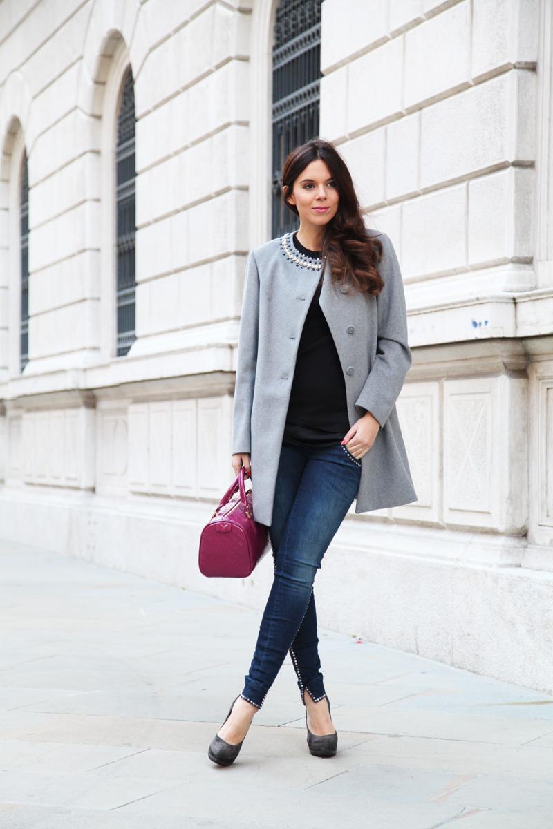 cappotto grigio look