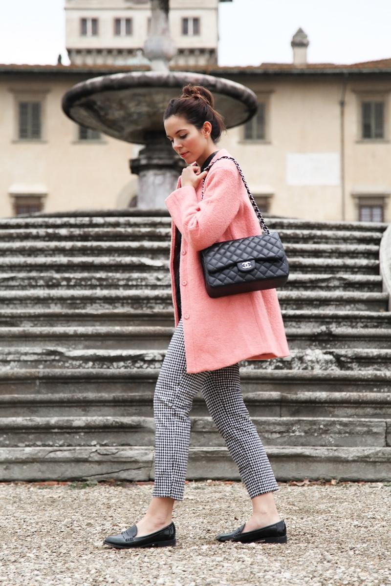 cappotto rosa sheinside