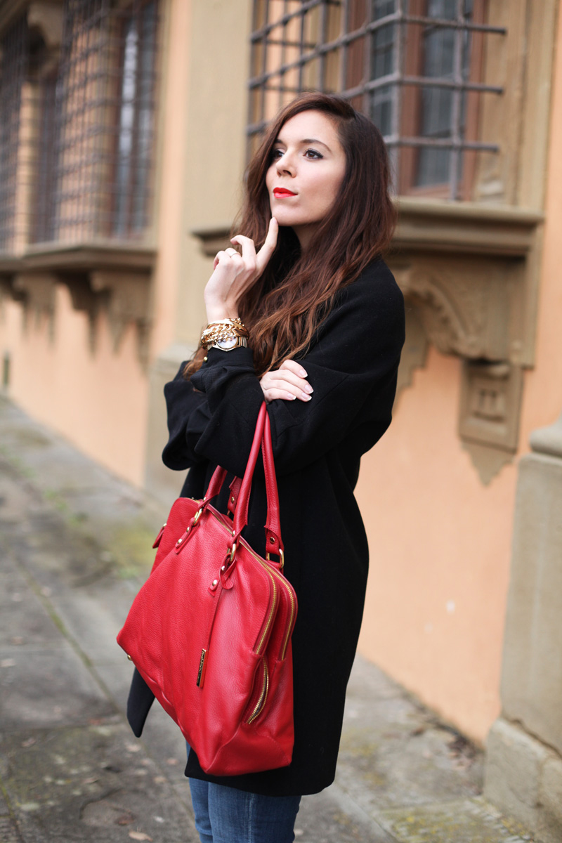 borsa rossa baldinini