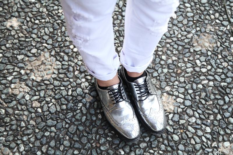 stringate maschili argento