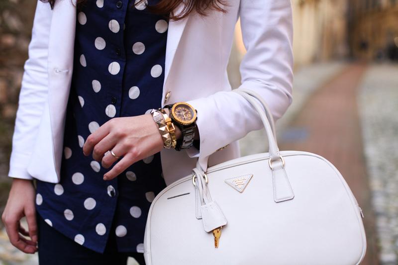 borsa prada bianca