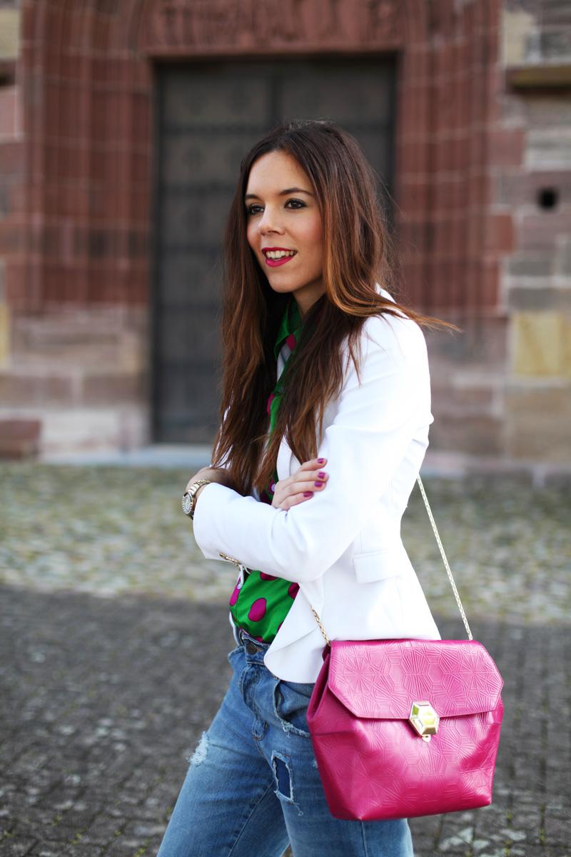 giacca blazer donna bianco look