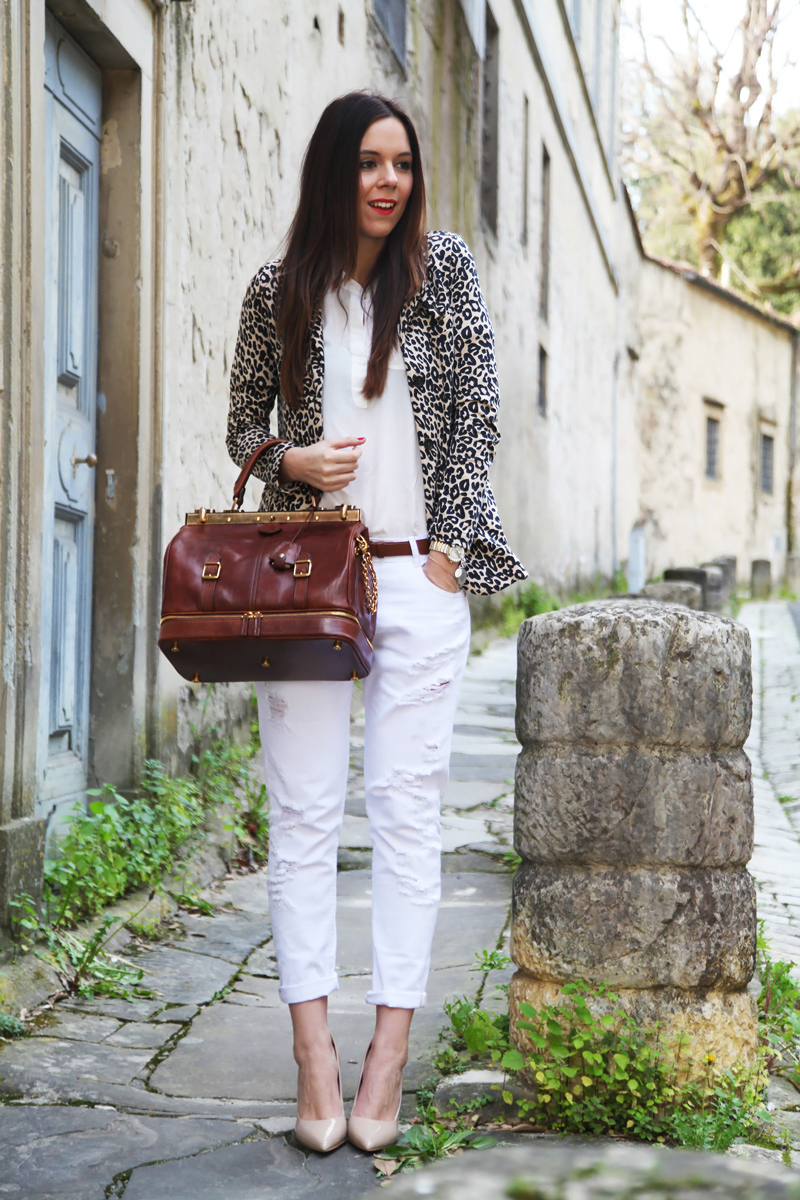 jeans bianchi donna the bridge primavera estate 2014 borsa