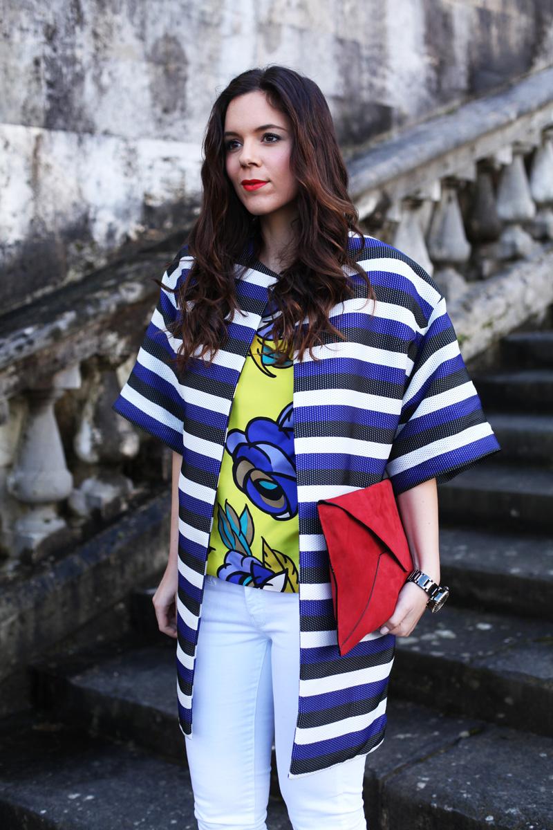 look primavera 2014 fashion blogger pantaloni bianchi scarpe rosse  (1)