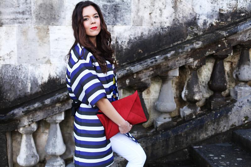 look primavera 2014 fashion blogger pantaloni bianchi scarpe rosse  (3)