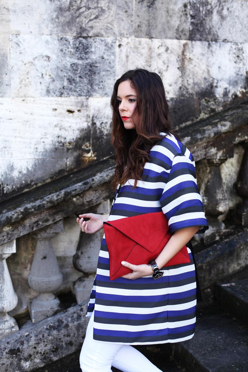 look primavera 2014 fashion blogger pantaloni bianchi scarpe rosse  (5)